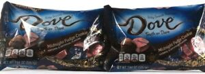 2 Dove 7.94Oz Silky Smooth Promises Truth Or Dare Midnight Fudge Cookie BB 11-21