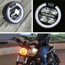 "6.8"" Vintage LED White Aperture Motorcycles Headlight 18W High Beam 12W Low Beam"
