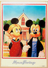 (PRL) 1987 TOPOLINO MINNIE MICKEY MOUSE WALT DISNEY  POSTER ART PRINT COLLECTOR