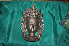 Vintage India Tibet Hindu Religious Spiritual God Silver Metal Wall Plaque