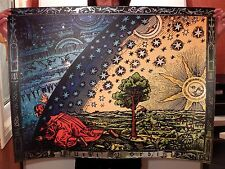(40x30 inch) - FLAMMARION ENGRAVING 1888 - FLAT EARTH TRAVELLER - FIRMAMENT DOME