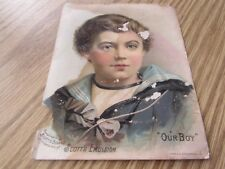 SCOTT'S EMULSION - SCOTT & BROWNE - OUR BOY - VICTORIAN TRADE CARD