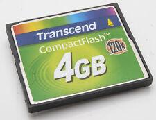 Transcend 4GB CF Karte 120x Compact Flash