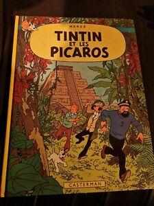 livre BD tintin et les picaros 1976 1ere édition collection hergé casterman