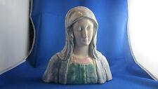 statue ceramique vernissee donatello buste de vierge capo di monte italie