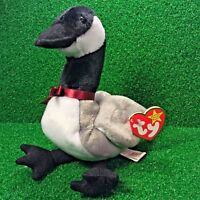 MWMT Ty Beanie Baby Baby Loosy The Canadian Goose Duck 1998 Retired Plush Bird