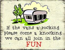 PLEASE COME KNOCKING IF THE CARAVANS  ROCKING pub bar shop cafe funny gift