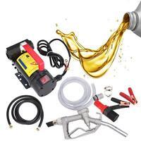 12V Fuel Diesel Oil Kerosene Transfer Pump Self Priming 45L/min Speed 3600rpm.