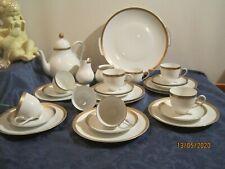Edelstein Bavaria  Kaffee- und Teeservice mit Goldrand u. Reliefierung 8 Pers.