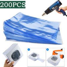 200pcs 16x 12 Heat Shrink Bag Wrap Films Packaging Seal Clear Pvc Shrinkable