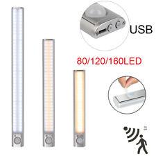80/120/160LED PIR Motion Sensor LED Night Light Battery Operated Magnetic Strip