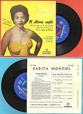 """EP 7"""" SARITA MONTIEL """"El ultimo cuplé"""" + 3 COLUMBIA SCGE 80056 Spain SIGNED"""