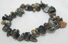 Natural Blue Falcon Tigers Eye Crystal Gemstone Bracelet Reiki Blessed NEW