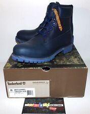 "Timberland 6"" Premium Beeline Pharrell Navy Blue Leather Boot Men's Size 11 New"