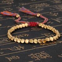 Armreif handgemachte tibetische buddhistische geflochtene Perle Kupfer R9U5