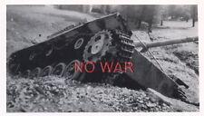 WWII ORIGINAL GERMAN WAR PHOTO KNOCKED PANZER / TANK AFTER BATTLE
