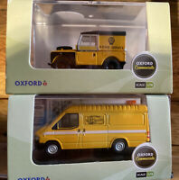 THE AA LAND ROVER CLOSED HARD TOP & Ford Transit  AA BUNDLE 1:76 OXFORD DIECAST