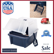 New listing Cat Litter Box Covered Tray Kitten Extra Large Enclosed Hooded Hidden Pet Toilet