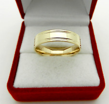 Solid 10k Yellow Gold Wedding Band Ring 4.8 grams size 10.5