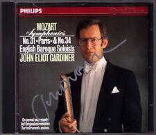 John Eliot GARDINER Signed MOZART Symphony No.31 Paris & 34 PHILIPS CD Autograph