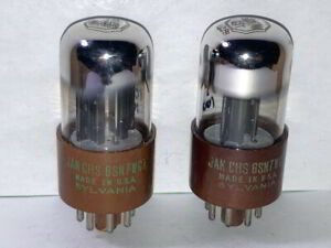 Sylvania 6SN7WGT ECC33 JAN Mil-Spec Bad Boy Tubes - Matched Pair, NOS Testing