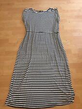 Dorothy Perkins Striped Maxi Dress Size 16 White Black Plus Curvy Casual