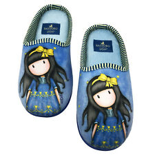 Santoro Gorjuss Slippers, Slippers Girl Girl, Slippers Santoro, Blue