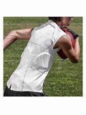 Shock Doctor Sport 5 Pad Impact Shirt - Adult Medium - White - Football Lacrosse
