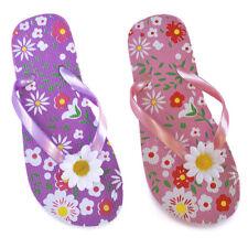GIRLS BUTTERFLY FLOWER FLIP FLOP WITH GLITTER STRAP