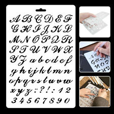 UK Letter Alphabet Number Layering Stencils Painting Scrap Writing Cards Plastic