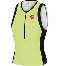 Castelli Free Tri Top Mens Large Yellow Fluo/Black
