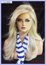 LONG  BLOND DESIGNER WIG FLOWING SOFT✮ BLOND BOMBSHELL HEADS WILL TURN 2007