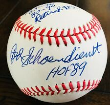 Red Schoendienst STAT BALL HOF JSA Signed Authentic Baseball St. Louis Cardinal
