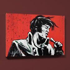 "David Garibaldi Signed ""Elvis Presley Revolution"" LE Giclee on Canvas"