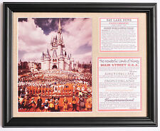 Walt Disney 1971 Disney World Magic Kingdom Opening Day framed photo tribute