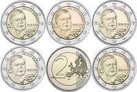 2 Euro Helmut Schmidt 2018 Deutschland-Satz 5 Münzzeichen A D F G J bankfrisch