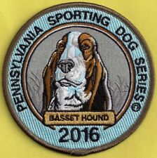 Pa Fish Game Commission NEW Pennsylvavnia Sporting Dogs 2016 Basset Hound Patch