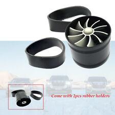 Car Air Intake Turbonator Single Fan Engine Gas Fuel Turbine Rubber Holders