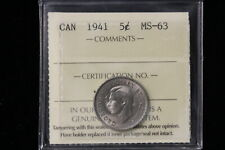 1941 Canada. 5 Cents. ICCS Graded MS-63. (XLV116)