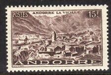 Andorra, French Administration Scott #121 VF Unused 1951 15F Blk Brn Old Andorra