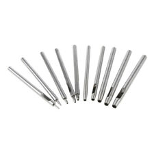 9-tlg Leder Ovale Form Locher Locheisen Kit Set Cutter Hohl DIY Werkzeug 2mm s0g