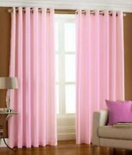 New Polyester 2 Piece Door Curtain Set -Baby pink, 4 x 7 ft