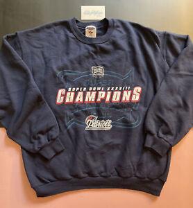 Vtg New England Patriots Super Bowl Champs XXXVIII Sweatshirt Men's L NEVER WORN