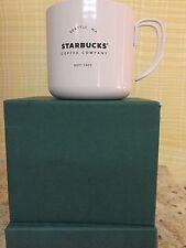 Starbucks 2016 Seattle White Stainless Steel Camping Mug 12 oz NIB