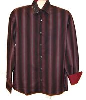 Ted Baker Men's Purple Striped Casual Cotton Shirt Size 3 M NEW