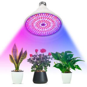 40W LED Grow Pflanzen Lampe Leuchte Hydrokultur Beleuchtung Indoor E27 352 SMD