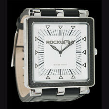 RockWell Carbon Fiber Watch CF101 - Black Leather Band White Face CF-101 - NEW