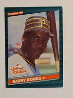1986 Donruss Barry Bonds #11 The Rookies Baseball Card (RC) - Pittsburg Pirates
