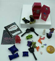 Lot Of Monster High Doll Accessories- Purses, Shoes, Hands, Coffin