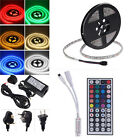 5M RGB 300LEDs 5050 SMD LED Strip light Lamp 44key Remote 12V 6A Power Adapter